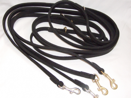 Long Claytons  (8ft) English  Leather Lead